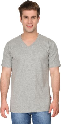 4Play Printed Men's Round Neck Grey T-Shirt