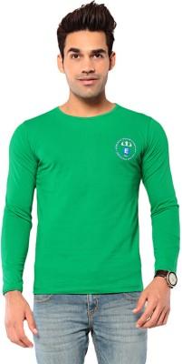 Ebry Solid Men's Round Neck Green T-Shirt