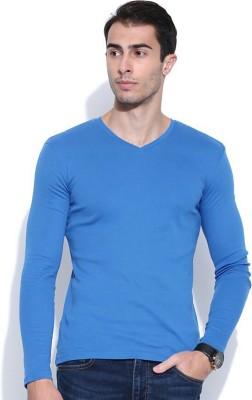 Vulpix Solid Men's V-neck T-Shirt