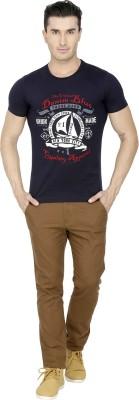 San Vertino Printed Men's Round Neck Blue T-Shirt