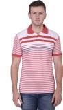 Yishion Striped Men's Polo Neck Red, Blu...