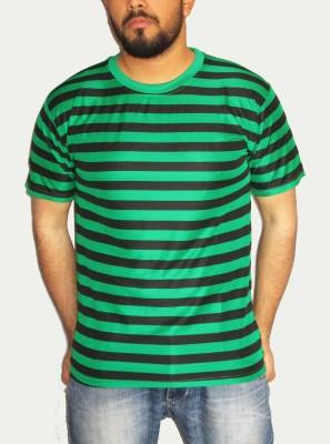 CadMan Striped Men's Round Neck T-Shirt
