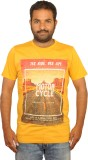 I Am Back Printed Men's Round Neck Yello...