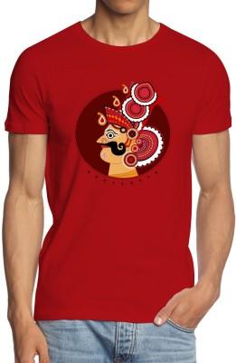 ANGI Graphic Print Men's Round Neck Red T-Shirt