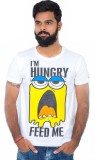 Hipsters Printed Men's Round Neck White ...