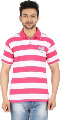 Danteez Striped Men's Polo Pink T-Shirt