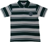 Miracle Striped Men's Polo Neck Green T-...