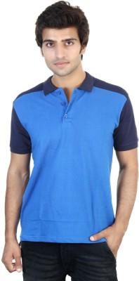 Shra Striped Men's Polo Neck Light Blue, Blue T-Shirt