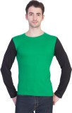 14Forty Solid Men's Round Neck Green T-S...