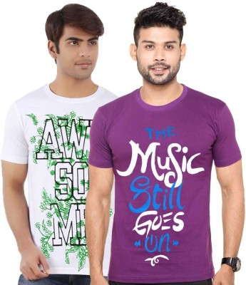 Cool Club Printed Men's Round Neck Multicolor T-Shirt