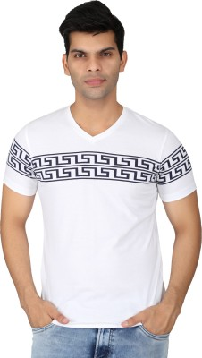 EASIES Printed Men's V-neck T-Shirt