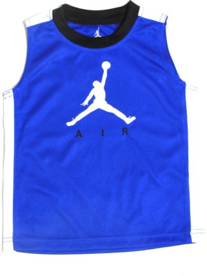 Jordan Solid Boy's Round Neck Blue T-Shirt