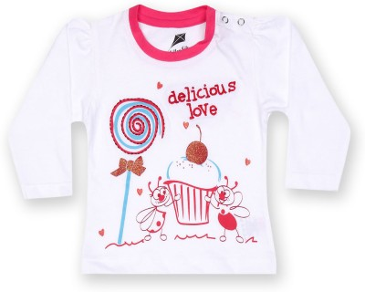 Yellow Kite Baby Printed Baby Girl's Round Neck T-Shirt