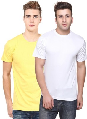 JE Multitrade Solid Men's Round Neck Multicolor T-Shirt