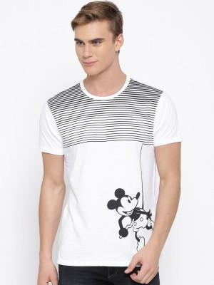 Kook N Keech Disney Printed Men's Round Neck White T-Shirt
