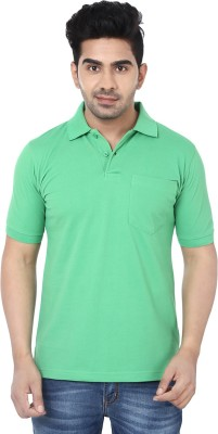 Crocks Club Solid Men's Polo Neck Light Green T-Shirt