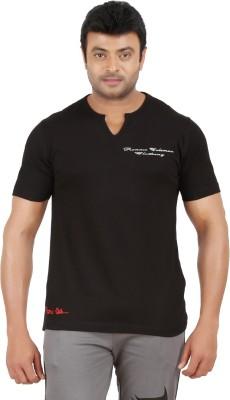 Ronnie Coleman Clothing Printed Men's Henley Black T-Shirt
