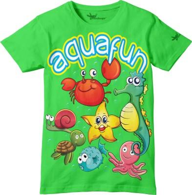 Grasshopr Graphic Print Baby Boy's Round Neck Green T-Shirt
