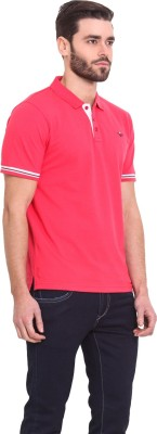 Western Vivid Solid Men's Polo Neck Red T-Shirt