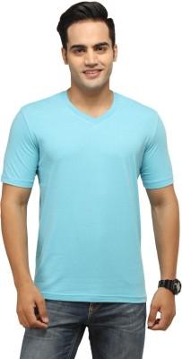 BepoyZ Solid Men's V-neck Light Blue T-Shirt