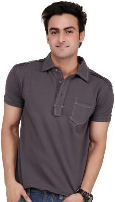 Monteil & Munero Solid Men's Polo Grey T-Shirt