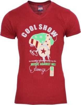 Mangoman Printed Men's V-neck T-Shirt