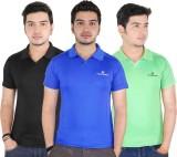 JBN Creation Solid Men's Polo Neck Blue,...