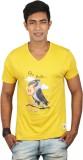Dude Tamizha Printed Men's V-neck Yellow...