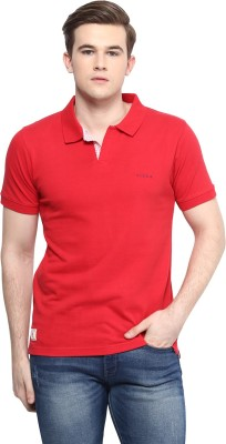 Ziera Solid Men's Polo Neck Red T-Shirt