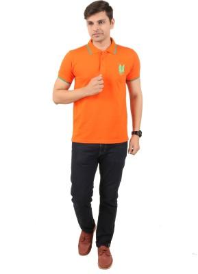zing polo wear Solid Men's Polo Orange T-Shirt