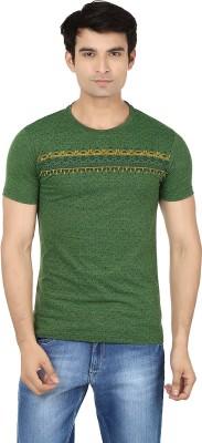 Minute Merge Printed Men's Round Neck Green, Yellow T-Shirt