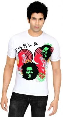 Earls777 Printed Men's Round Neck White T-Shirt