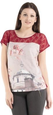 Kazo Self Design Women,s Fashion Neck T-Shirt