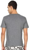 Nuteez Printed Men's Round Neck Grey T-S...