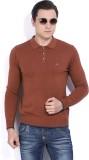 Numero Uno Solid Men's Polo Neck Brown T...