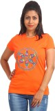 EthnicShack Self Design Women's Round Ne...
