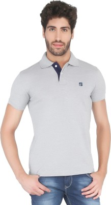Floe Solid Men's Polo Neck Grey T-Shirt