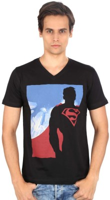 Planet Superheroes Graphic Print Men's V-neck T-Shirt