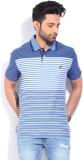 Nautica Striped Men's Polo Neck Blue T-S...