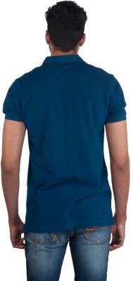 Provogue Solid Men's Round Neck Blue T-Shirt