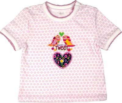 Babeez Geometric Print Baby Girl's Round Neck T-Shirt