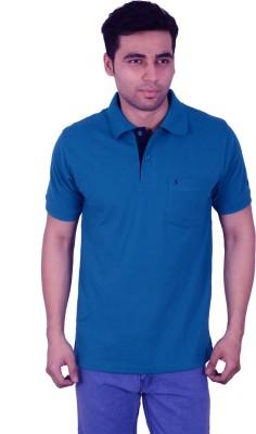 Studio Nexx Solid Men's Polo Blue T-Shirt