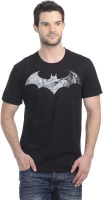 Akhram Asylum Printed Men's Round Neck Black T-Shirt