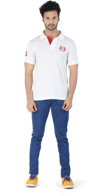 Kkoir Embroidered, Solid Men's Polo White T-Shirt