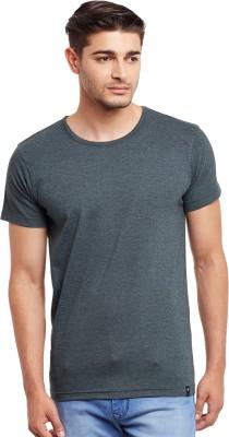 The Vanca Solid Men's Round Neck Green T-Shirt