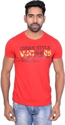 Being Dessi Solid Men's Round Neck Red T-Shirt