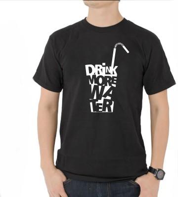 FRENEMY Printed Men's Round Neck Black T-Shirt