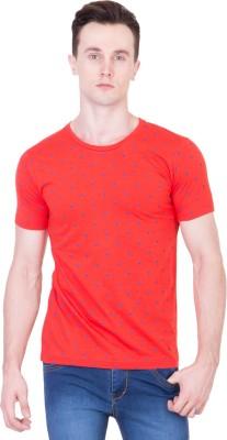 Ganzm Printed Men's Round Neck Red T-Shirt