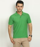 Fundoo-T Solid Men's Polo Neck Green T-S...