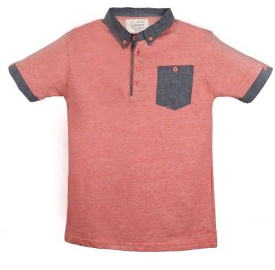 Tonyboy Solid Boy's Polo T-Shirt